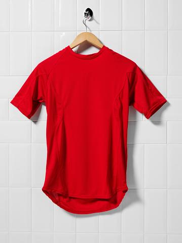 赤「レッドサッカーシャツ」:スマホ壁紙(4)