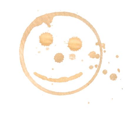幸福「スマイリーのコーヒーに染料を塗る」:スマホ壁紙(17)