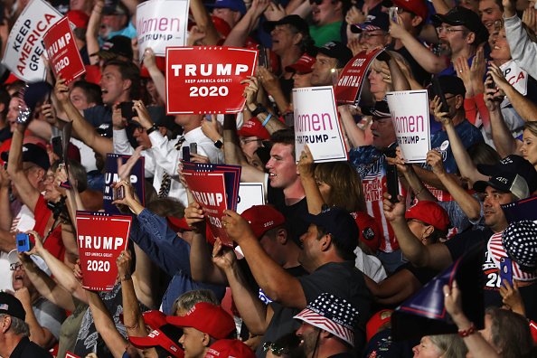 MAGA「Donald Trump Holds MAGA Campaign Rally In New Hampshire」:写真・画像(10)[壁紙.com]