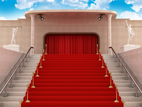 Curtain「Red carpet leading up the stairs」:スマホ壁紙(0)