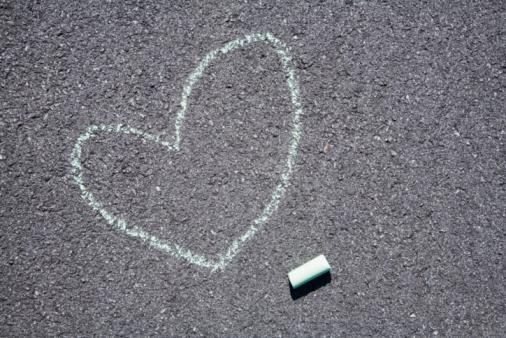 Chalk - Art Equipment「Heart on pavement」:スマホ壁紙(16)