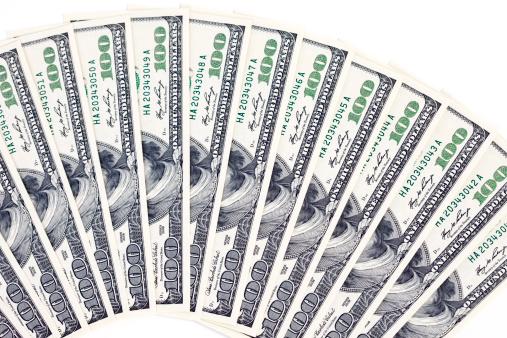 Fan Shape「Newly Minted One Hundred Dollar Bills」:スマホ壁紙(4)