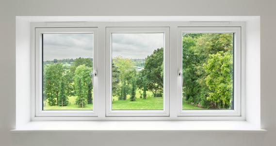 Non-Urban Scene「white windows with garden view」:スマホ壁紙(9)