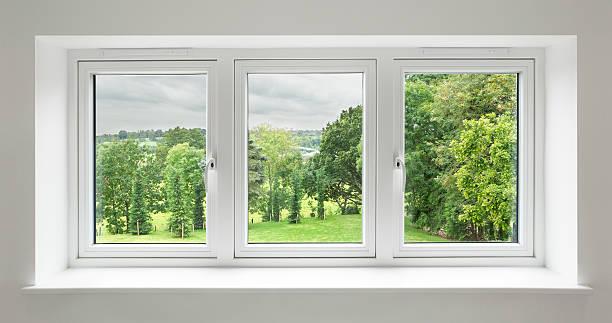white windows with garden view:スマホ壁紙(壁紙.com)