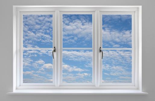 Window Latch「White window with blue sky and wispy clouds」:スマホ壁紙(14)