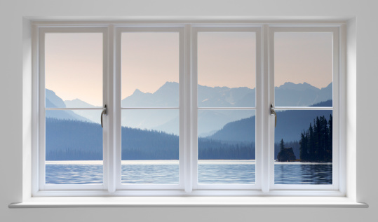 Window Frame「White window with lake view」:スマホ壁紙(14)