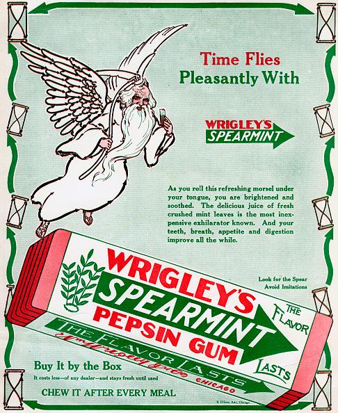 Mint Leaf - Culinary「Advert for Wrigley's Spearmint Pepsin Gum, 1913.」:写真・画像(5)[壁紙.com]