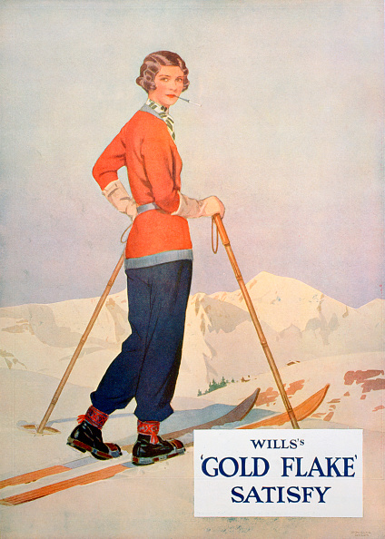 Ski Pole「Advert for Wills' 'Gold Flake' cigarettes, 1930.」:写真・画像(9)[壁紙.com]