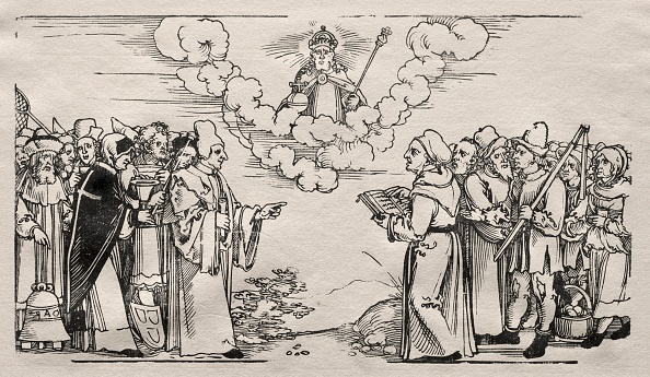 16th Century「Dispute Between Luther And A Catholic Theologian. Creator: Hans Sebald Beham (German」:写真・画像(0)[壁紙.com]