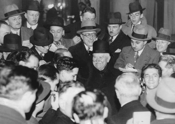 French Prime Minister「The New French Prime Minister Gaston Doumergue With Journalists At The Elysée Palace. 10Th February 1934. Photograph.」:写真・画像(17)[壁紙.com]
