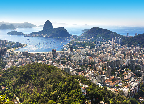 Architectural Feature「Brazil Rio de Janeiro with Sugarloaf and Guanabara Bay at morning」:スマホ壁紙(7)