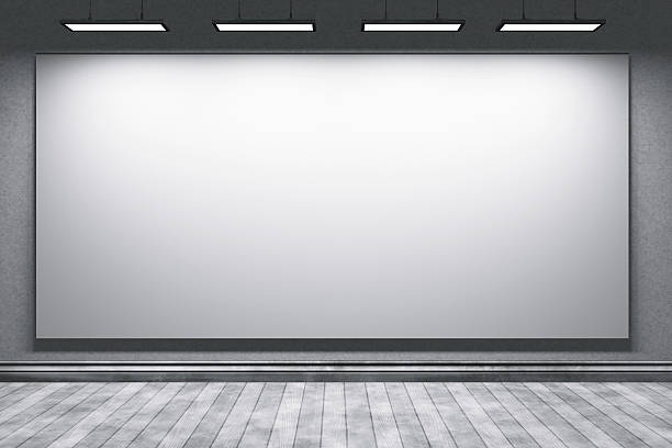 Empty education office room with big projection screen:スマホ壁紙(壁紙.com)