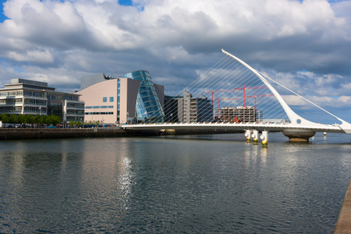 Liffey River - Ireland「The Samuel Beckett bridge」:スマホ壁紙(19)