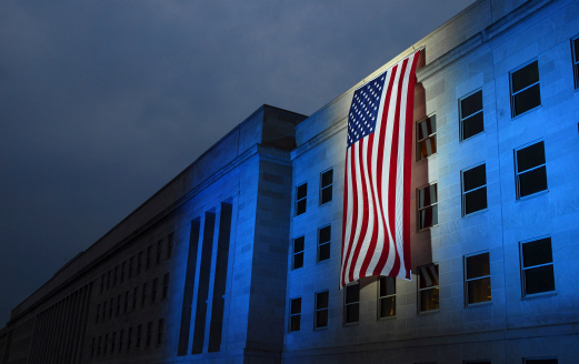 Military「September 7, 2007 - A memorial flag is illuminated near the spot where American Airlines Flight 77 crashed into the Pentagon on September 11, 2001. 」:スマホ壁紙(11)