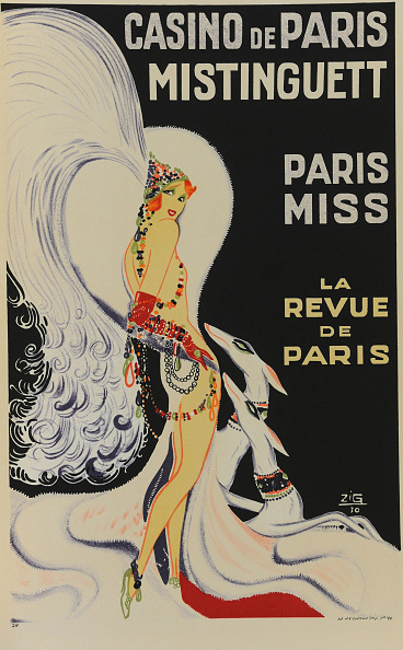 Chromolithograph「Casino De Paris Mistinguett Paris Miss」:写真・画像(16)[壁紙.com]