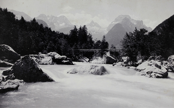 Footbridge「Devil'S Bridge Over The Saalach Near Lofer」:写真・画像(4)[壁紙.com]