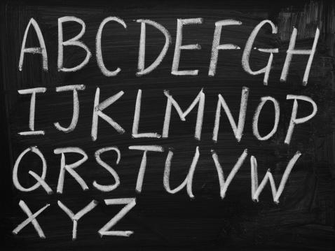 Letter - Document「English alphabet on blackboard」:スマホ壁紙(2)