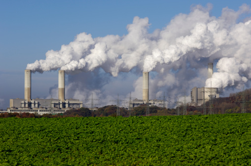 Carbon Dioxide「Power plant with pollution」:スマホ壁紙(13)
