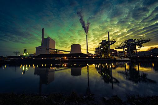 石炭「電力プラントはブルーアワー」:スマホ壁紙(13)