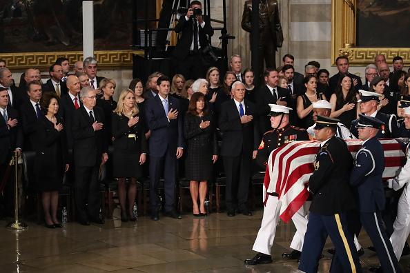 Architectural Feature「Sen. John McCain (R-AZ) Lies In State In The Rotunda Of U.S. Capitol」:写真・画像(11)[壁紙.com]