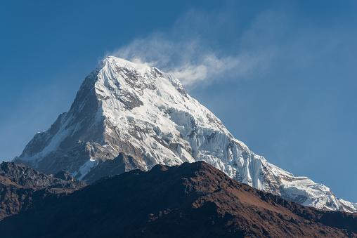 Annapurna Range「Annapurna South morning close-up」:スマホ壁紙(15)