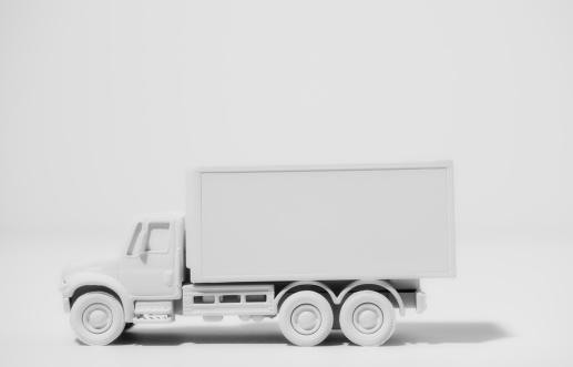 おもちゃのトラック「Box truck painted white」:スマホ壁紙(16)