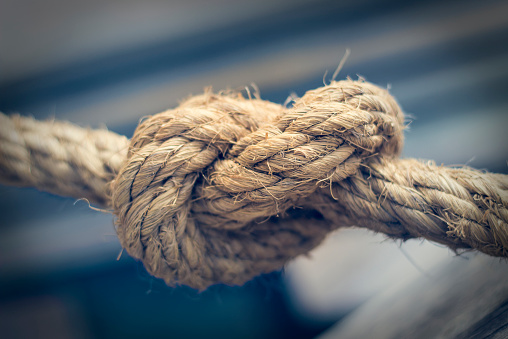 Tied Knot「Knotted rope, close-up」:スマホ壁紙(11)