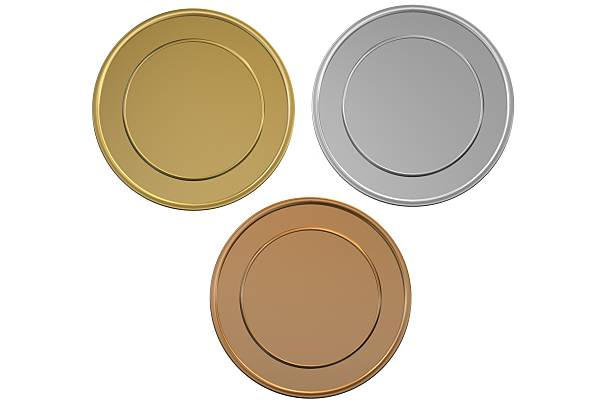 Gold Silver and Bronze blank medals/coins:スマホ壁紙(壁紙.com)