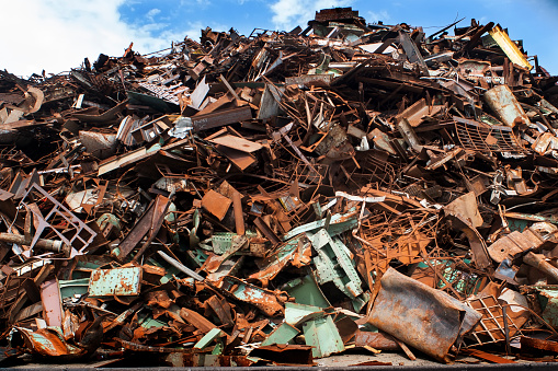Scrap Metal「Pile of rusted metal for recycling, Portsmouth, NH」:スマホ壁紙(15)