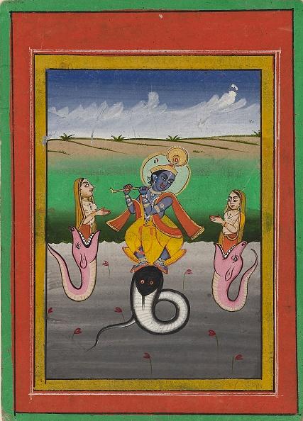 Painted Image「Krishna Kaliyamardaka」:写真・画像(0)[壁紙.com]