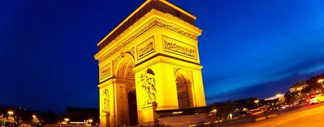 Arc de Triomphe - Paris「Paris, Triumph Arch by night」:スマホ壁紙(0)