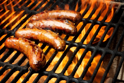 Hot Dog「Barbecue grill with sausage on it」:スマホ壁紙(1)
