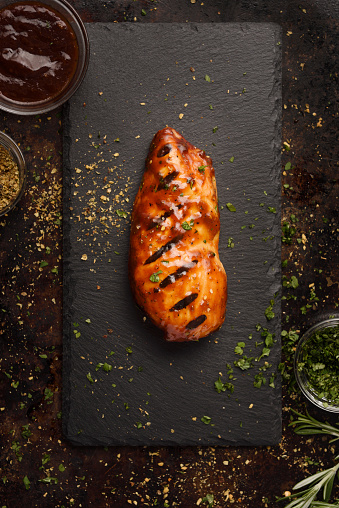 Char-Grilled「Barbecue grilled chicken breast with seasoning」:スマホ壁紙(9)