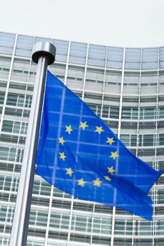 ブリュッセル首都圏地域「ヨーロッパの国旗の前に、ブリュッセルでバーレイモントビルビュー」:スマホ壁紙(11)