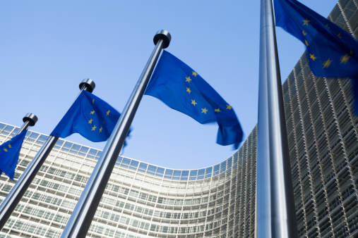 City of Brussels「European flags in front of the Berlaymont building in Brussels」:スマホ壁紙(16)