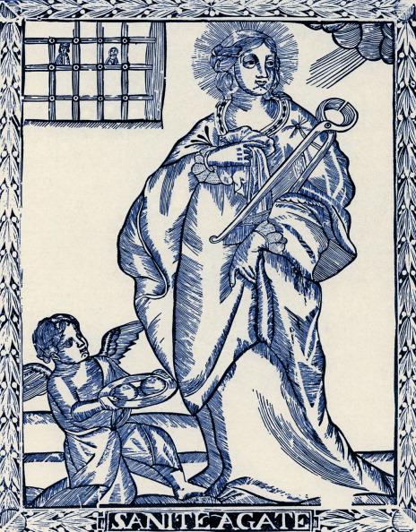 Religion「St Agatha - wood engraving」:写真・画像(19)[壁紙.com]