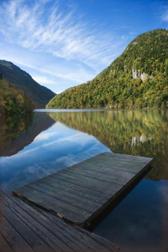 Adirondack Mountains「Dock in river of Adirondacks, New York」:スマホ壁紙(11)