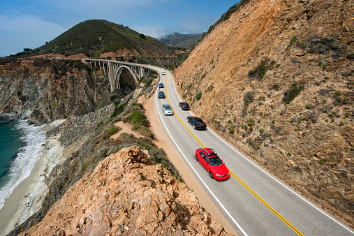 California State Route 1「Traffic on Highway 1」:スマホ壁紙(3)