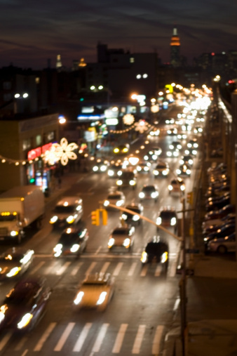 Boulevard「Traffic on Queens Boulevard, New York City」:スマホ壁紙(6)