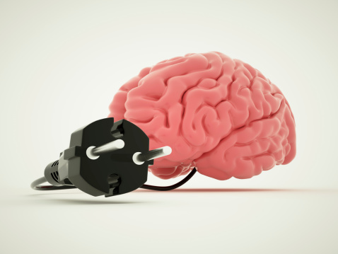 Two Pin Plug「Charging for brain」:スマホ壁紙(0)