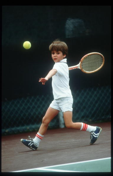Sports Court「Seven Year Old Andre Agassi Plays Tennis April 1977 In Las Vegas Nv Agassi Becomes One」:写真・画像(9)[壁紙.com]
