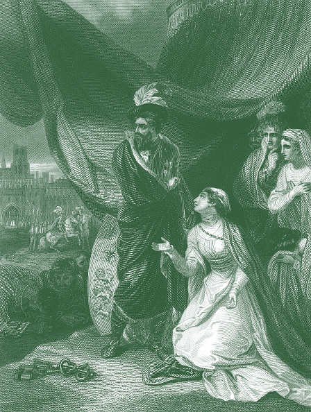 Circa 14th Century「Queen Philippa on her knees before King Edward III in the royal tent outside the city of Calais」:写真・画像(10)[壁紙.com]