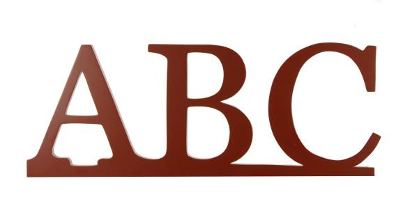 Alphabet「ABC on White」:スマホ壁紙(15)