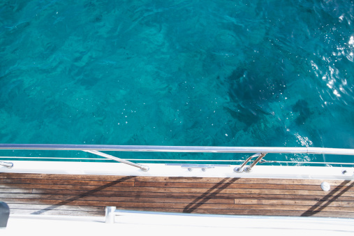 Motor Yacht「Italy, Sardinia, Planks of yacht deck」:スマホ壁紙(12)