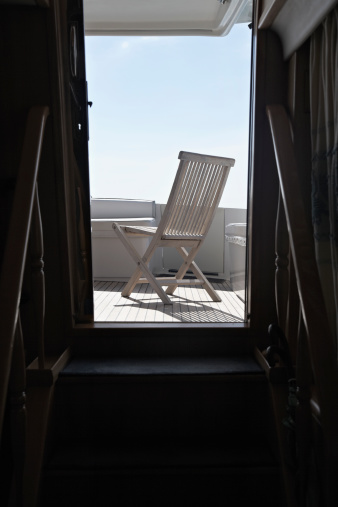 Passenger Cabin「Italy, Sardinia, Chair on yacht deck」:スマホ壁紙(10)