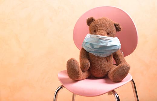Allergy「teddy left on seat with covid-19 mask」:スマホ壁紙(19)