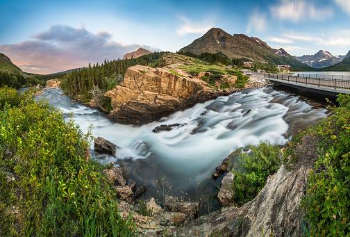 Beauty「スイフトカレント滝の氷河国立公園、モンタナ」:スマホ壁紙(12)