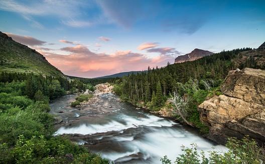 Wilderness Area「Swiftcurrent Falls - Glacier National Park, Montana」:スマホ壁紙(13)