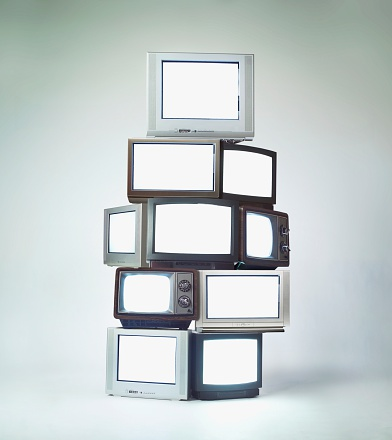 Surveillance「Stack of televisions」:スマホ壁紙(7)