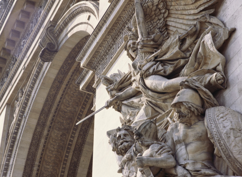 Arc de Triomphe - Paris「Relief sculpture on Arc de Triomphe in Paris, France」:スマホ壁紙(15)